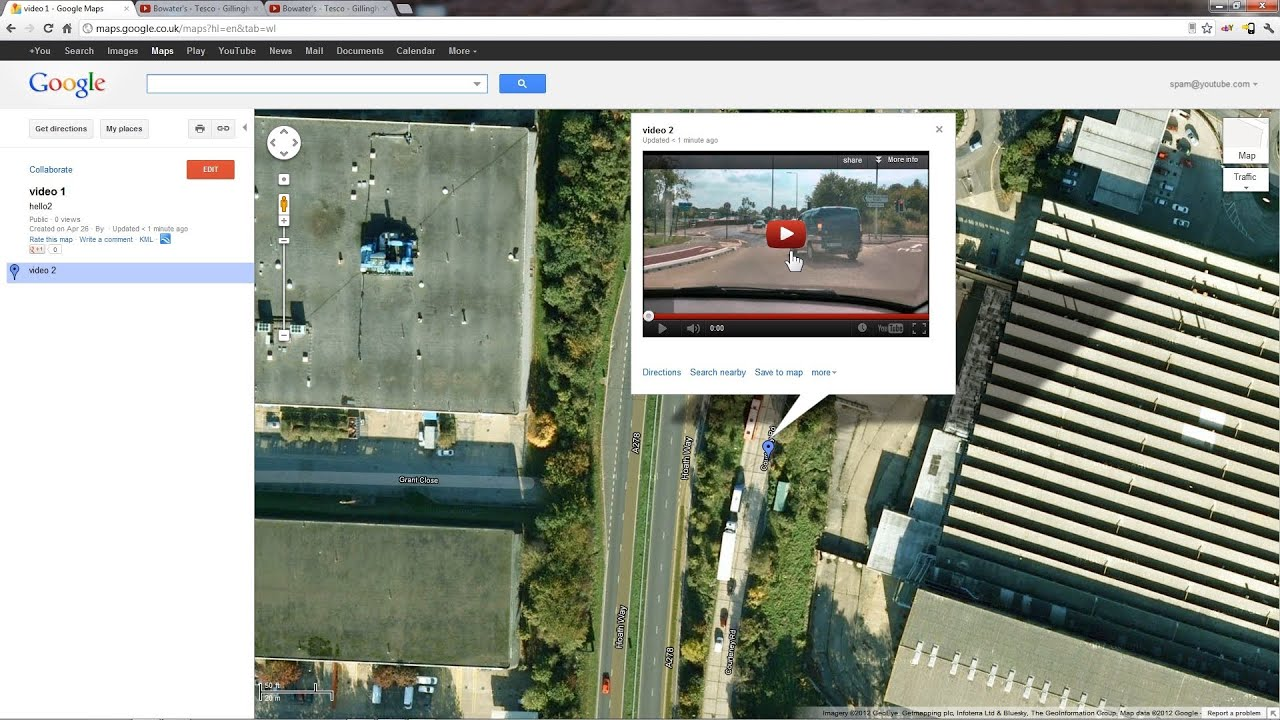 Embed videos in Google Maps (April 2012) - YouTube