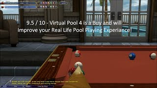 Virtual Pool 4 Review - Pool Player First Impressions 9.5 /10! (HD)