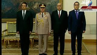 صدى البلد - لحظة اداء محمود توفيق وزير الداخلية الجديد اليمين الدستورية أمام الرئيس السيسي