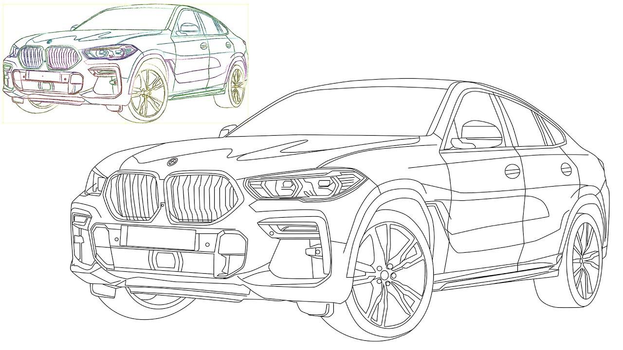 Bmw X6 2020 Drawing