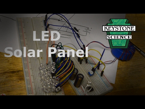 Solar panel made of LEDs