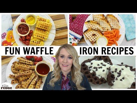 4 TASTY Waffle Iron Recipes    Breakfast, Lunch, Dinner & Dessert