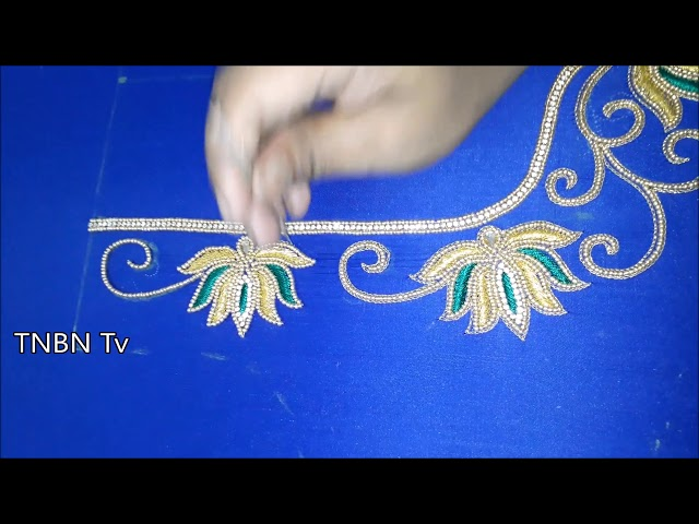 simple maggam work blouse designs | latest model blouse designs | basic embroidery stitches