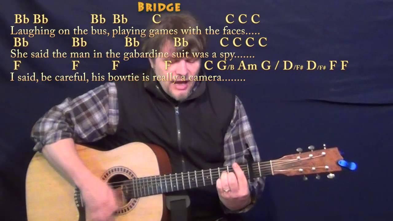 America Simon Garfunkel Guitar Cover Lesson With Chordslyrics