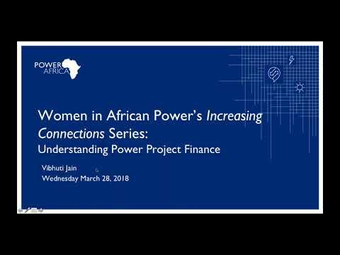 WiAP Webinar: Understanding Power Project Finance