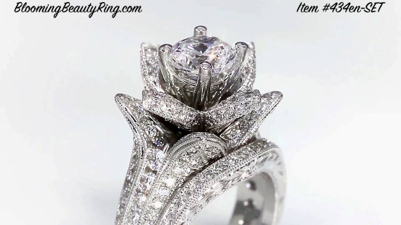 Most Unique Flower Style Engagement Ring With Extraordinary Beauty