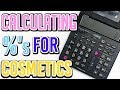 HOW TO CALCULATE PERCENTS - COSMETIC FORMULAS  Ι TaraLee