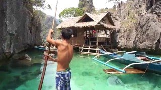 Fishing with a native man in Coron, the Philippines
