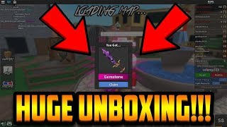 UNBOXING THE GEMSTONE!!! [100+ CASE UNBOXING] (ROBLOX MM2)