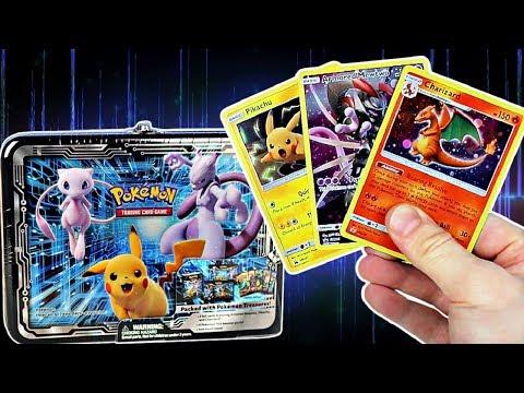 Pikachu & Mewtwo Pokemon Tin 2019 Opening! (3 Great Promo Cards)