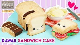 How to Make a Giant Sandwich Cake! (Great British Bake Off Inspired)