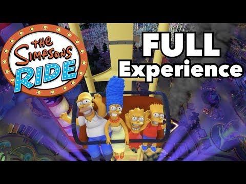 Simpsons Ride - Full Experience at Universal Studios Florida