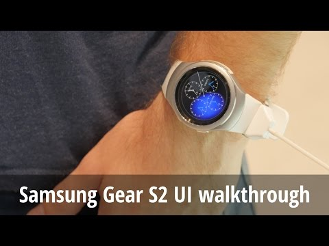 Samsung Gear S2 Tizen UI walkthrough