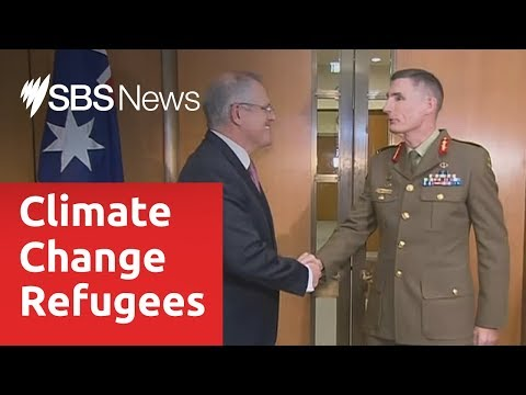 Defence chief warns of increasing security threat from global warming