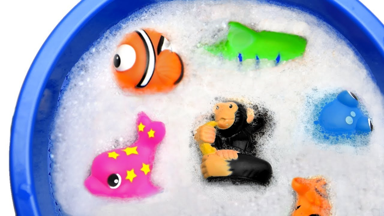 Learn Zoo Animal and Sea Animals Names Sharks Video Toys For Kids