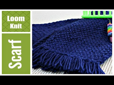Round Loom Knitting Scarf Patterns For Beginners : LOOM KNIT SCARF Step by Step for Beginners VERY Detailed Round and Long Loom ...