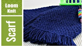 LOOM KNIT SCARF for Beginners. Step by Step VERY Detailed (ANY Loom)