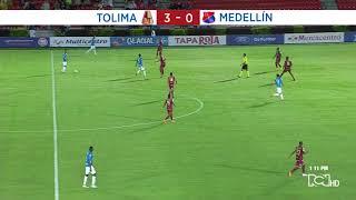 Deportes Tolima vs Medellín: resumen y goles del partido 3-0 Liga Águila 2018-II