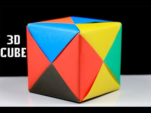 Origami Cube - How a make a 3d cube with paper - Easy Origami Tutorial
