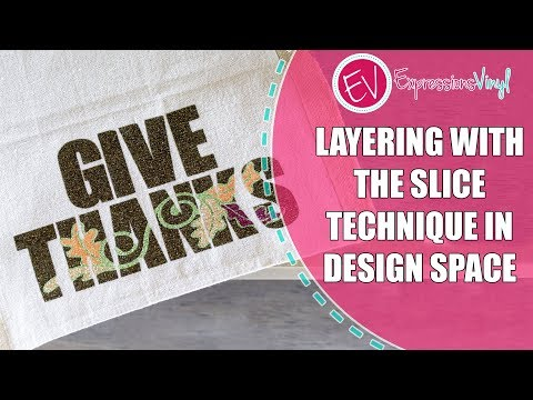Layering Glitter Iron On Vinyl With The Slice (Knockout) Technique In Design Space