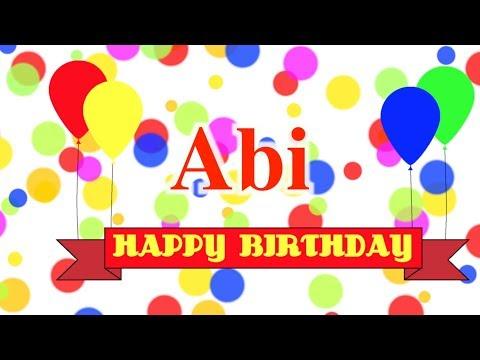 Happy Birthday Abi Song