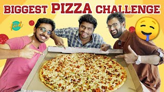 Finishing The ₹2200 Largest Pizza in 2 Telugu States | Chai Bisket Food