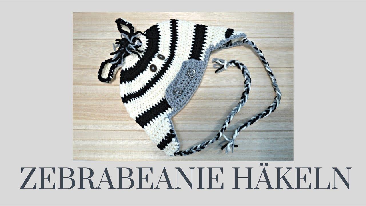 Einfache Mütze Häkeln Zebrabeanie Mit Tabelle In Allen Größen Von Baby Bis Erwachsenen