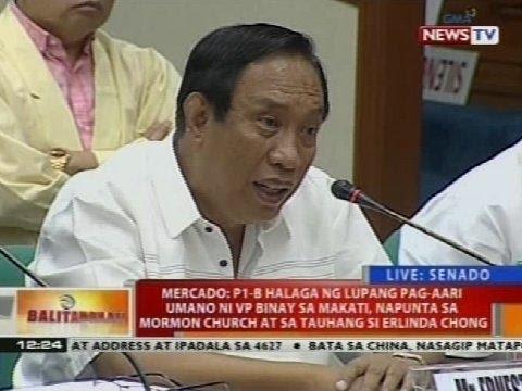 Pagdinig ng Senado kaugnay ng umano'y overpriced na Makati City Hall Building 2