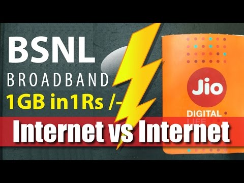 Reliance Jio vs BSNL Unlimited BB249 Plan   BSNL Launches Unlimited Broadband Rs. 249   300GB