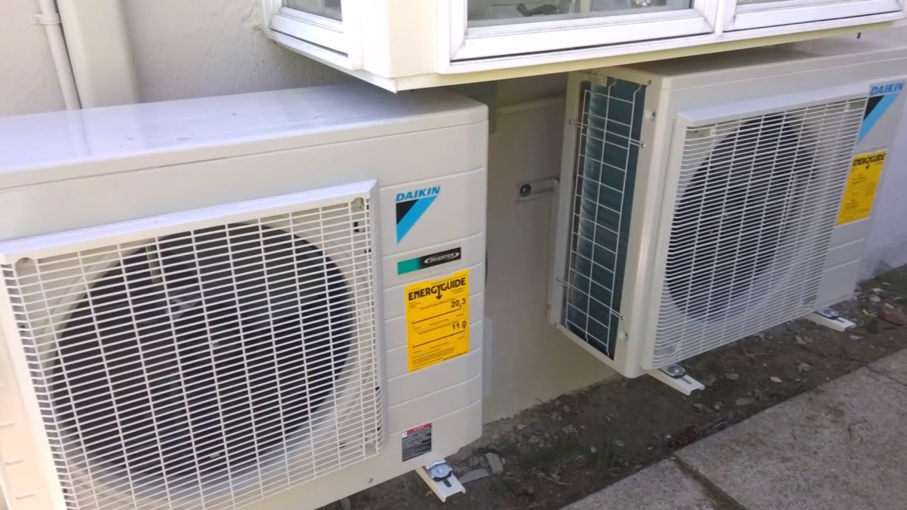 daikin combination of central ac & ductless air conditioning heat
