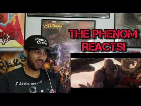 AVENGERS INFINITY WAR Extended Thanos Fight Scene & B-Roll REACTION!!!!