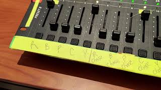 How to record on the Scene Setter 48 dmx console
