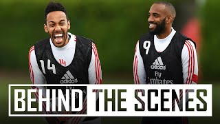 ⚡️Aubameyang shows his speed! | Behind the scenes at Arsenal training centre