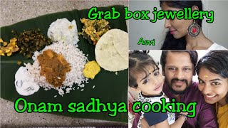 Onam Sadhya cooking|Kerala vegetarian food|Tried on  fake nails|Grabbox jewellery|Mommy vlogger|Asvi