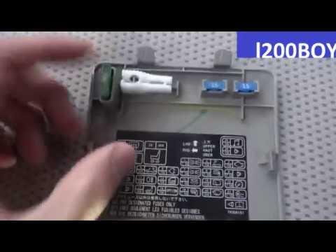 Lighter fuse change location on Mitsubishi L200 / fuse 2 lighter fuse 6 12v  socket