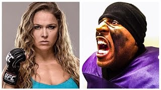 Ray Lewis Motivates Ronda Rousey after Knockout Defeat