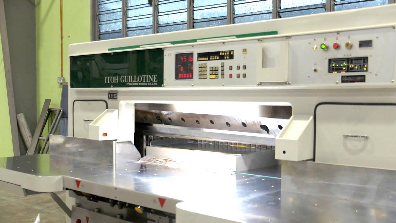 itoh guillotine 115 fc youtube rh youtube com Polar Cutter Parts Paper Cutting Machine Automatic