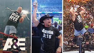 "WWE Biography: ""Stone Cold"" Steve Austin's ICONIC Beer Drinking"