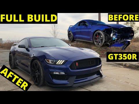 Rebuilding Wrecked 2016 Mustang Gt350r Rebuild In 10 Mins Like THROTl