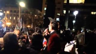 Νίκος Νικολόπουλος, συγκέντρωση Αθήνα, 27 Ιανουαρίου 2014