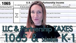 Form 1065 (LLC/Partnership Business Taxes) & Schedule K-1; Explained