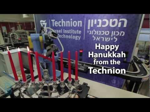 For Hanukkah Light that Menorah Technion Rube Goldberg Machine Chanukah
