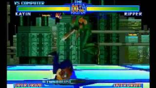 Battle Arena Toshinden URA - Kayin (Me) Vs. Ripper (CPU)