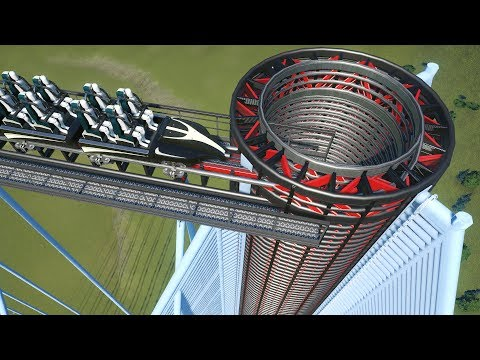 Building a Roller Coaster that literally just blends people in Planet Coaster