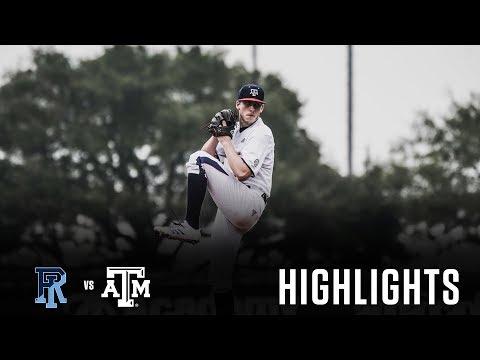 Baseball: Highlights   A&M 10, Rhode Island 2
