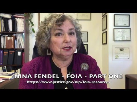 Freedom Of Information Act FOIA   Part One   Nina Fendel