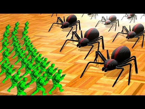 Green Army Men Fight Giant Spiders to Save the Bedroom in Home Wars! |