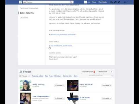 Adding your HAM radio call sign to Facebook
