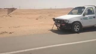 الردارات علي طريق الفيوم - القاهره الصحراوي