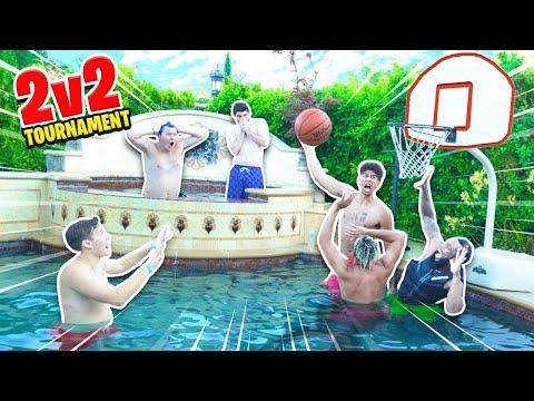 EPIC 2HYPE 2v2 POOL Mini Basketball TOURNAMENT!